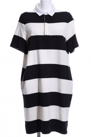 Marc O'Polo Polo Dress black-white striped pattern casual look