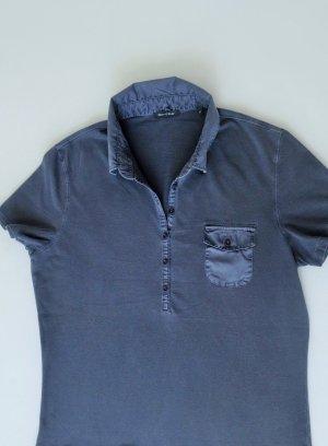 MARC O'POLO Poloshirt Shirt T-Shirt Top Gr. M blau Kurzarm