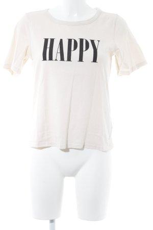 Marc O'Polo Print-Shirt creme Schriftzug gedruckt Casual-Look