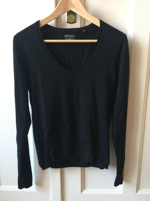 Marc O'Polo V-Neck Sweater black cotton