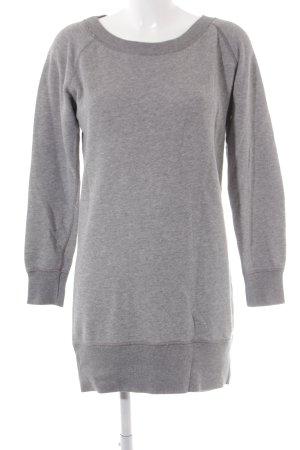 Marc O'Polo Sweaterjurk lichtgrijs gedrukte letters atletische stijl
