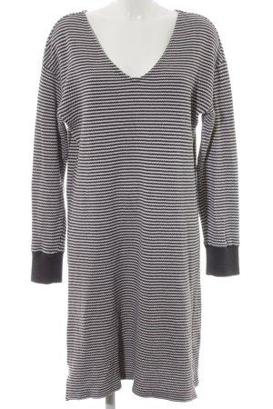 Marc O'Polo Sweaterjurk zwart-wit gestreept patroon casual uitstraling