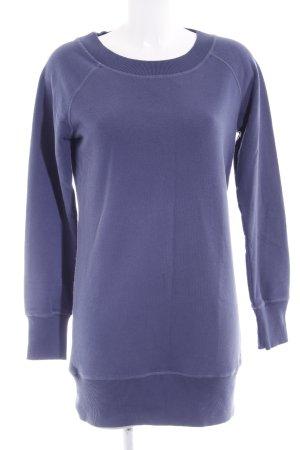 Marc O'Polo Pulloverkleid stahlblau Schriftzug gedruckt sportlicher Stil