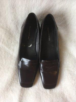 Marc O'Polo Zapatos Budapest marrón oscuro Cuero
