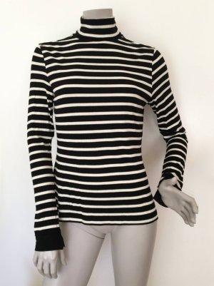 Marc O'Polo Turtleneck Shirt white-black modal fibre