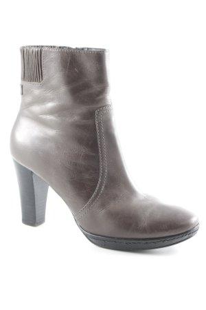 Marc O'Polo Reißverschluss-Stiefeletten graubraun-schwarz schlichter Stil