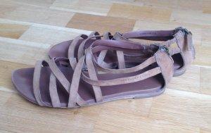 Marc O'Polo Sandalen met bandjes beige Leer