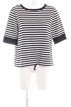 Marc O'Polo Gestreept shirt zwart-wit gestreept patroon casual uitstraling