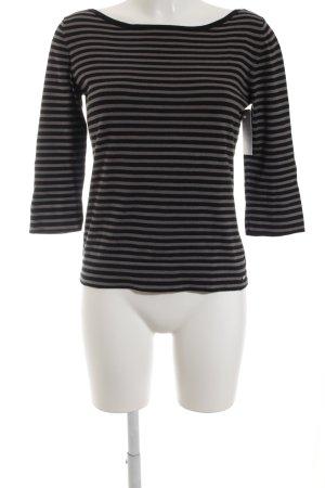 Marc O'Polo Gestreept shirt zwart-lichtgrijs gestreept patroon