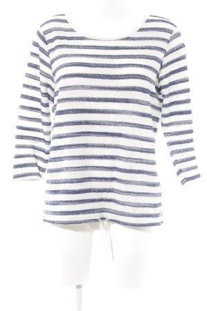 Marc O'Polo Maglietta a righe bianco-blu scuro Tessuto misto