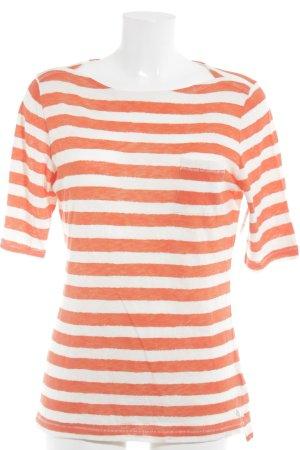 Marc O'Polo Maglietta a righe bianco sporco-arancione strisce orizzontali