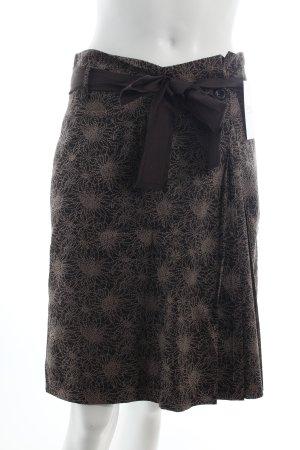 Marc O'Polo Rock dunkelbraun-hellbraun florales Muster klassischer Stil