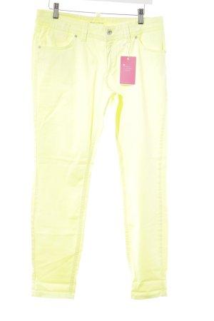 Marc O'Polo Pantalon cigarette jaune fluo style décontracté