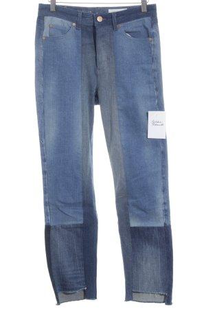 Marc O'Polo Röhrenhose stahlblau-grau Street-Fashion-Look