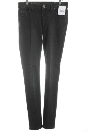 Marc O'Polo Röhrenjeans schwarz Jeans-Optik