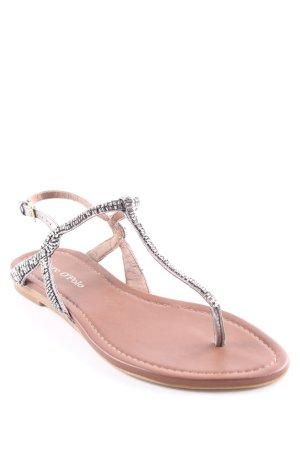 Marc O'Polo Romeinse sandalen bruin-antraciet Metalen elementen