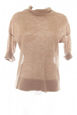 Marc O'Polo Jersey de cuello alto color bronce look casual
