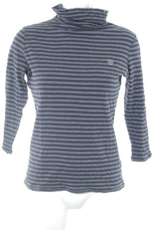 Marc O'Polo Turtleneck Shirt grey-dark blue striped pattern casual look