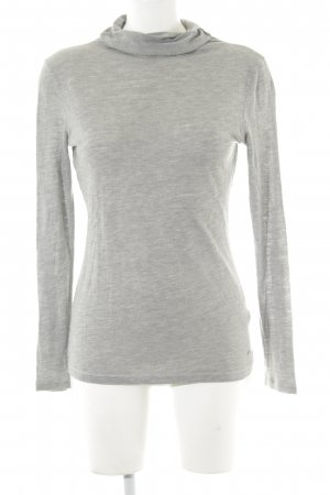 Marc O'Polo Turtleneck Shirt light grey flecked simple style