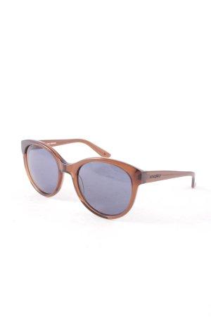 Marc O'Polo runde Sonnenbrille braun Transparenz-Optik