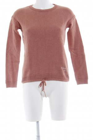 Marc O'Polo Rundhalspullover apricot Casual-Look