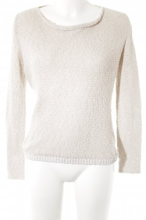 Marc O'Polo Rundhalspullover creme-beige Casual-Look
