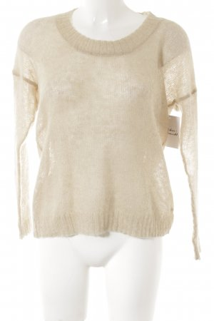 Marc O'Polo Rundhalspullover creme-hellbeige Casual-Look
