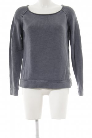 Marc O'Polo Rundhalspullover graublau Street-Fashion-Look