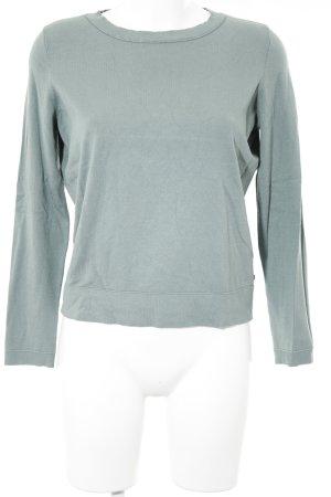 Marc O'Polo Jersey de cuello redondo verde grisáceo estilo sencillo