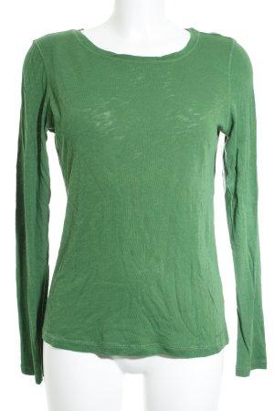 Marc O'Polo Rundhalspullover grün Casual-Look