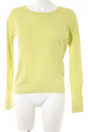 Marc O'Polo Rundhalspullover limettengelb Casual-Look