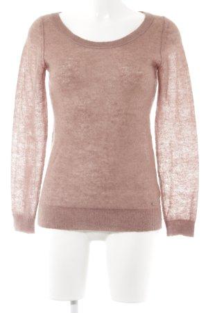 Marc O'Polo Rundhalspullover rosa Casual-Look