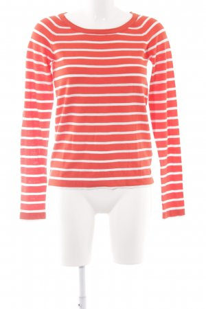 Marc O'Polo Rundhalspullover rot-weiß Streifenmuster Casual-Look