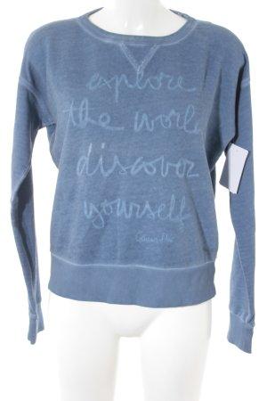 Marc O'Polo Rundhalspullover stahlblau-kornblumenblau Street-Fashion-Look