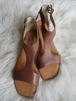 Marc O'Polo Comfort Sandals cognac-coloured-brown leather