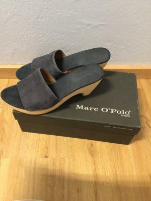 Marc O'Polo Sandale d'extérieur bleu foncé-noir cuir