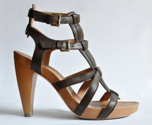 Marc O'Polo T-Strap Sandals dark brown
