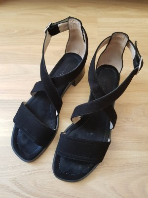 Marc O'Polo Strapped High-Heeled Sandals black-silver-colored