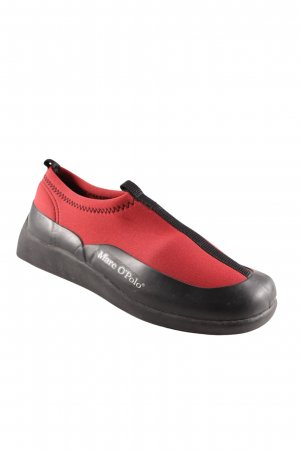 Marc O'Polo Schlüpfschuhe rot-schwarz sportlicher Stil