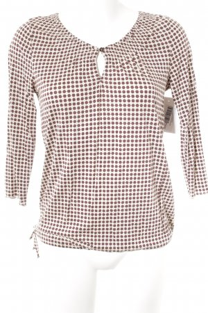 Marc O'Polo Schlupf-Bluse creme-bordeauxrot Blumenmuster Casual-Look
