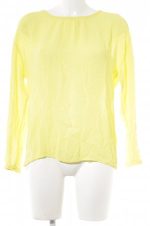 Marc O'Polo Slip-over blouse geel Webpatroon casual uitstraling