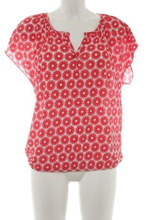 Marc O'Polo Schlupf-Bluse rot-weiß Blumenmuster Romantik-Look