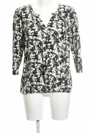 Marc O'Polo Slip-over Blouse black-cream floral pattern business style