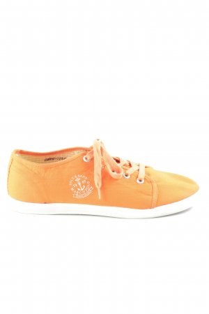 Marc O'Polo Veterschoenen neonoranje-wit casual uitstraling