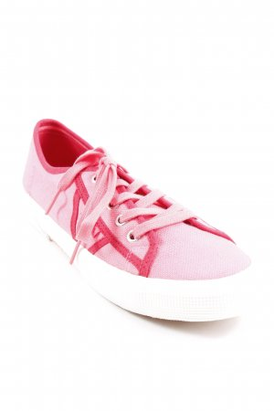 Marc O'Polo Schnürschuhe pink-rot Streifenmuster Casual-Look
