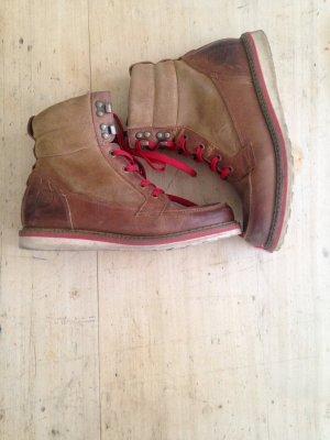 MARC O'POLO Schuhe Schnürstiefel aus Leder gr 38