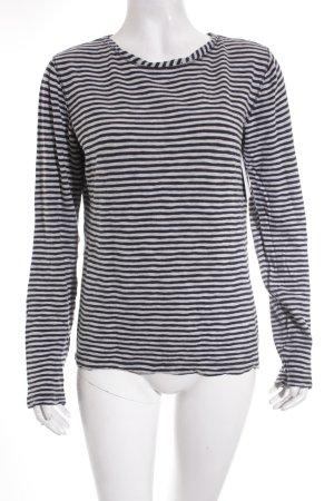 Marc O'Polo Shirt dunkelblau-hellgrau Streifenmuster Casual-Look