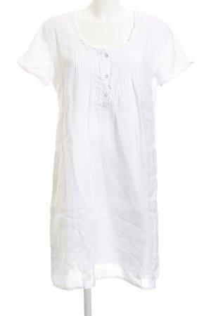 Marc O'Polo T-shirt jurk wit Boho uitstraling