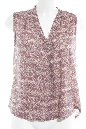 Marc O'Polo Camisa tipo túnica burdeos-crema estampado con diseño abstracto