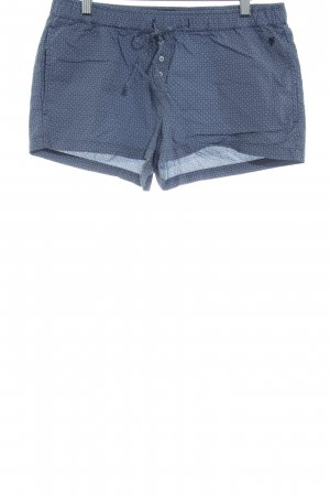 Marc O'Polo Shorts blau-weiß grafisches Muster Casual-Look